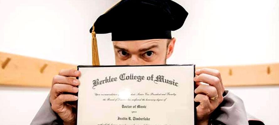 Justin Timberlake doktori címet szerzett a Berkleen | ThystaWorld